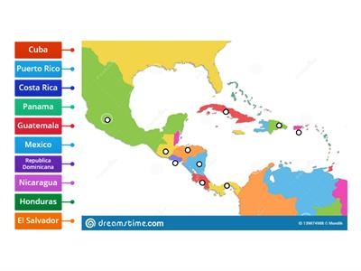 Spanish-Speaking Countries of Central America & the Carribean
