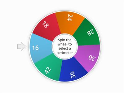 Spin the wheel to select a perimeter