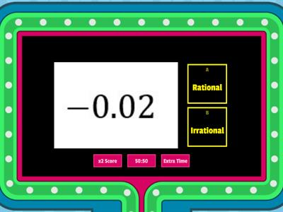 LGRP T1: Rational vs. Irrational Numbers (Game Show)