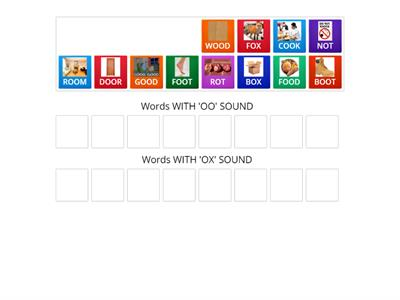 WEEK 10 Word SOUNDS  'OO' AND 'OX'