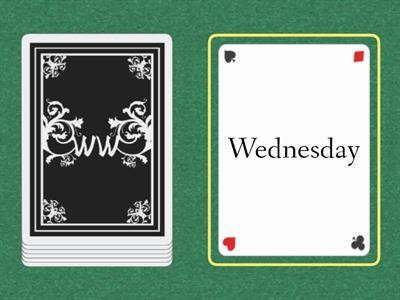 Cards: days of the week