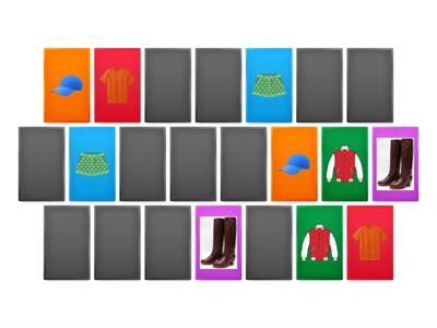 Memory Game (clothes)