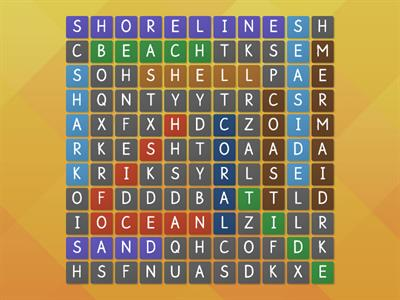 seaside wordsearch