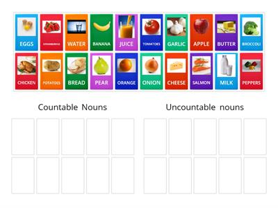 FOOD (Countable and Uncountable nouns)