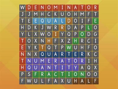 Wordsearch fraction