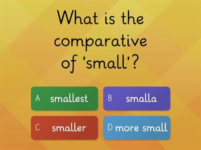 Comparative & Superlative Form