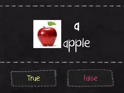Alphabets : True or False