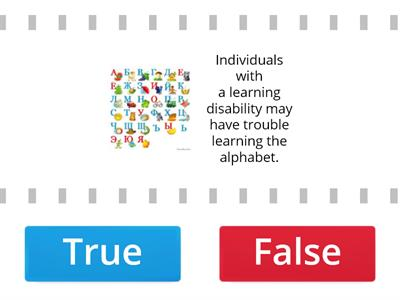 Learning disability (true & False facts)