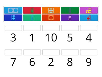0-10 Numeral/Numicon match