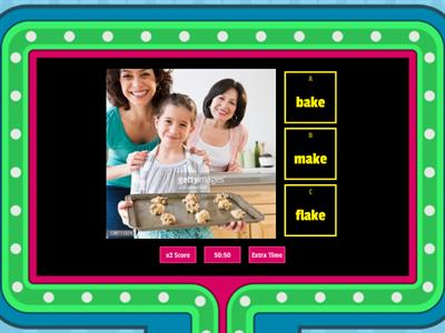 -ake Word Family Games