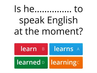 Present Continuous & Simple- Let's talk English