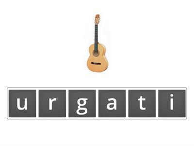 Musical instruments anagram