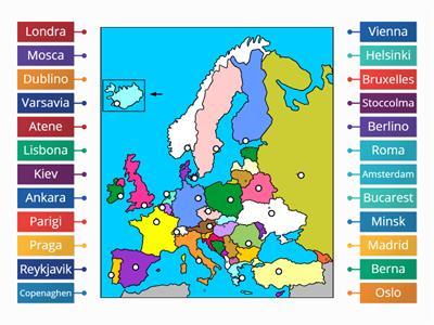 Cartina Capitali Europa.Le Capitali D Europa Risorse Per L Insegnamento