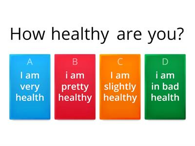"Health quiz ""how healthy are you?"" salvatore zacaria"