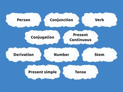 First and Secong Conjugation Key Terms