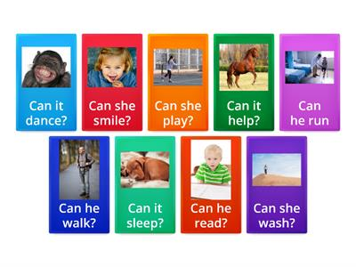 He / She/ It can + verb