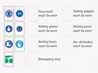 Health and safety symbols