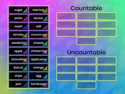 Countable/Uncountable nouns (Unit 18)