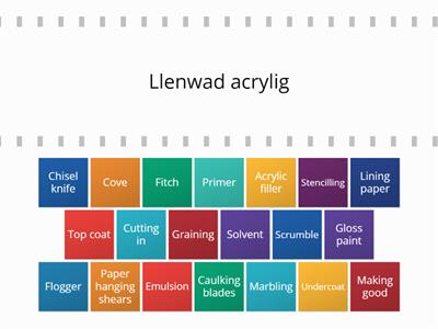 Peintio Ac Ardduno Match English and Welsh Keywords