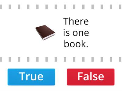 There is- There are True- False