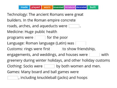 Ancient Roman discoveries and inventions