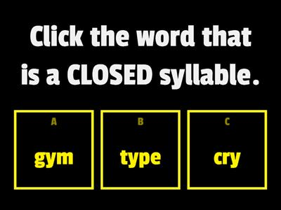 Syllable/Vowels