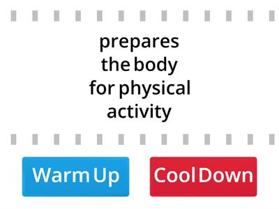 Benefits of a Warm Up or Cool Down?