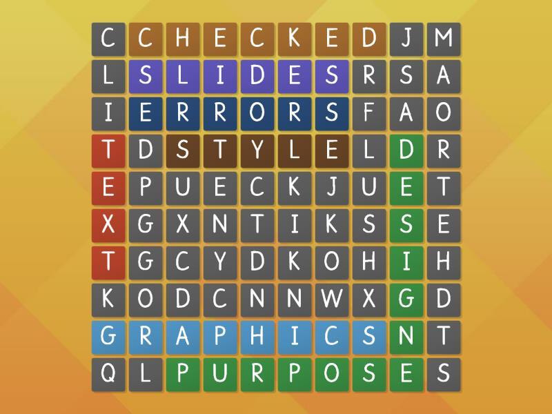 presenatation wordsearch teaching resource