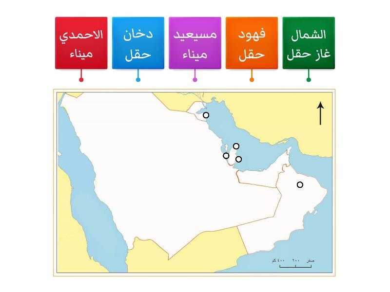 خريطة شبة الجزيرة العربية Labelled Diagram