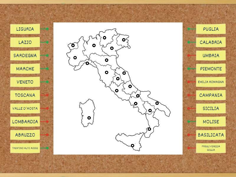 Cartina Muta Emilia Romagna.Regioni D Italia Cartina Muta Diagrama Etiquetado