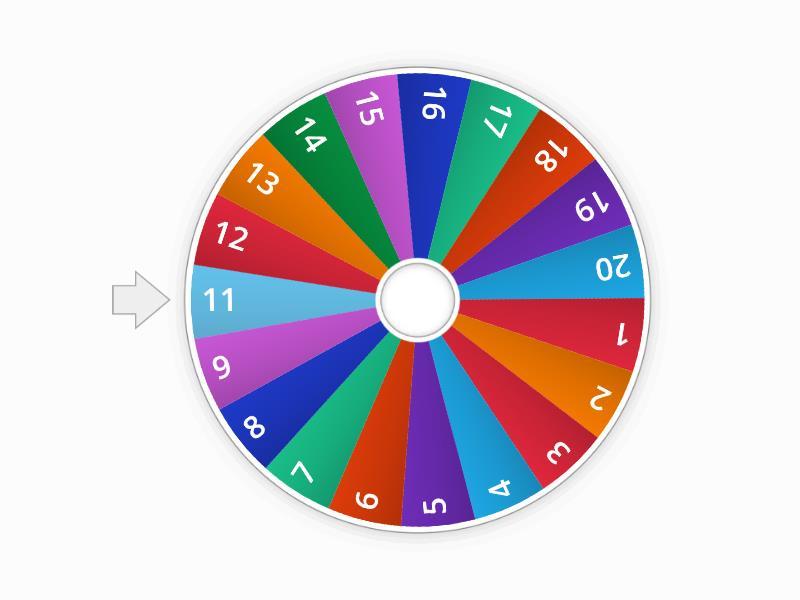 1-20 Wheel  - Random wheel