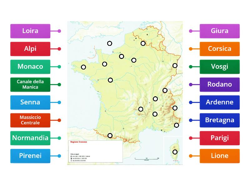 Cartina Muta Delle Alpi.Carta Muta Francia Immagine Con Etichette
