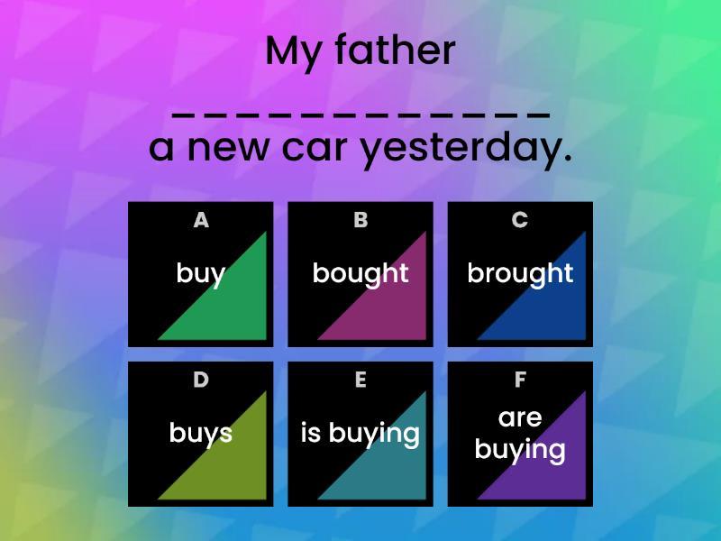 Simple Past Tense - Quiz