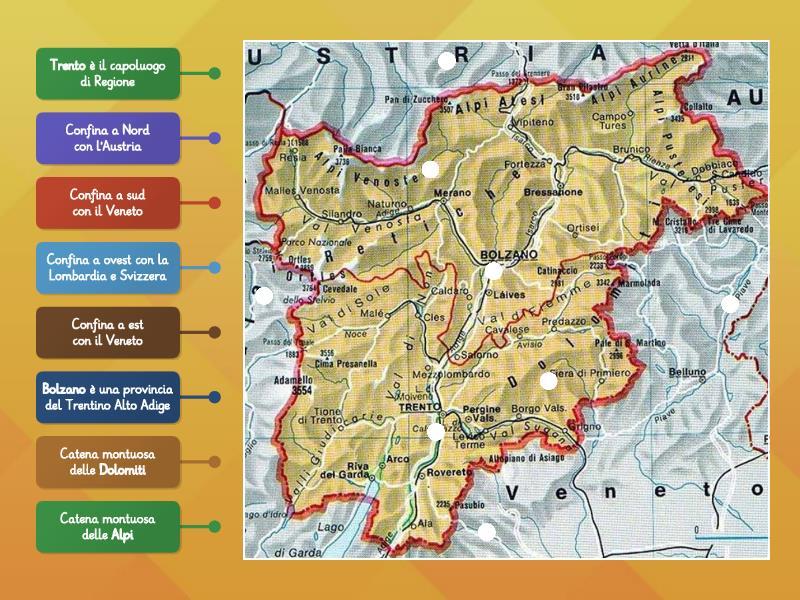 Cartina Trentino.Trentino Alto Adige Collega Al Posto Giusto Rysunek Z Opisami