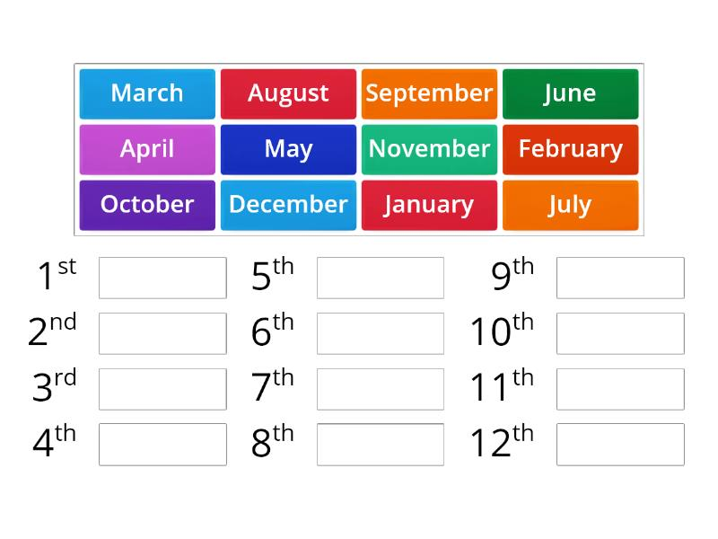 Ordering Months Of The Year Teaching Resource
