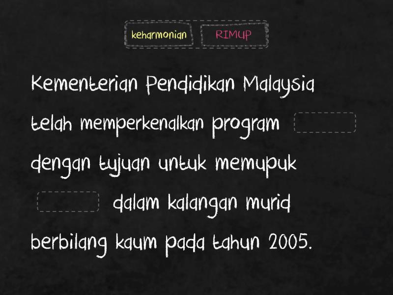 Malaysia Di Persada Sukan Peranan Sukan Sebagai Alat Perpaduan Dan Keharmonian Kaum Missing Word