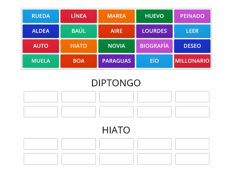 Diptongo O Hiato Group Sort