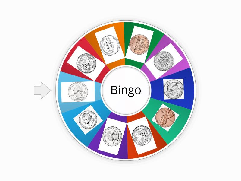 Coins bingo - Random wheel