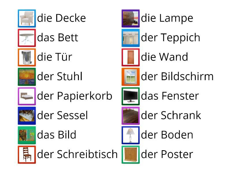 Deutsch Möbel - Unscramble